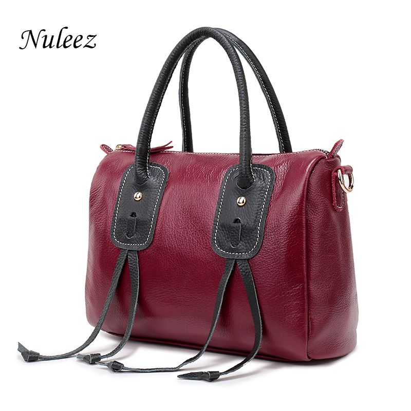 89df71d6c4dd Nuleez Genuine Leather Handbags Women Red Pillow Crossbody Bags For Ladies  Soft Real Leather Messenger Shoulder Bags Female 1224