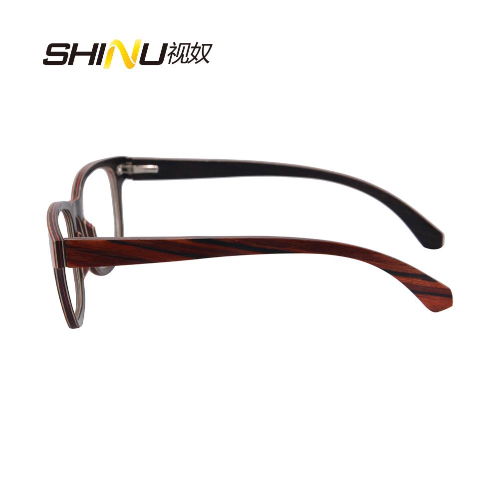 square wood glasses frames men clear lens full rim eyeglass frames ...
