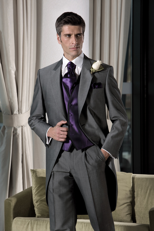 Tuxedo For Men Bridegroom Dress Gray Suits Long Tail Wedding 2017 Custom Made Suit 3 Piece Myfashion