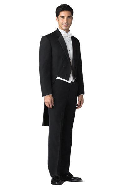 wedding tuxedo long tail for groom wear black custom made suits men ...