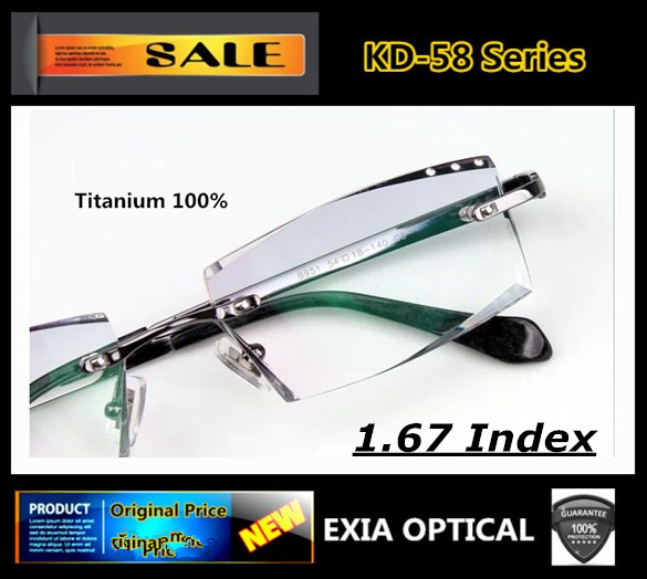 904d196d93 MR-7 1.67 High Index Optical Lenses Titanium Glasses Men Rimless Frame  Brand Design Men Fashion Eyewear EXIA OPTICAL KD-58 – MyFashionBuy