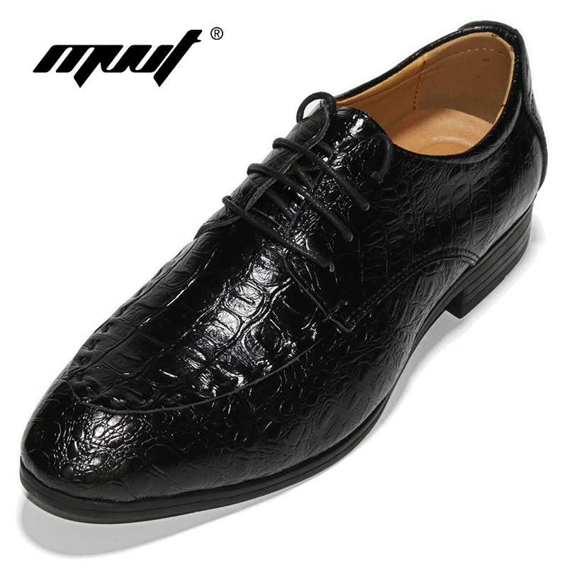 781b02cc21f8 Hot Sale Genuine Leather Men Oxfords Shoes Men Dress Shoes Business Men s  Footwear Wedding Shoes For Men Crocodile Pattern