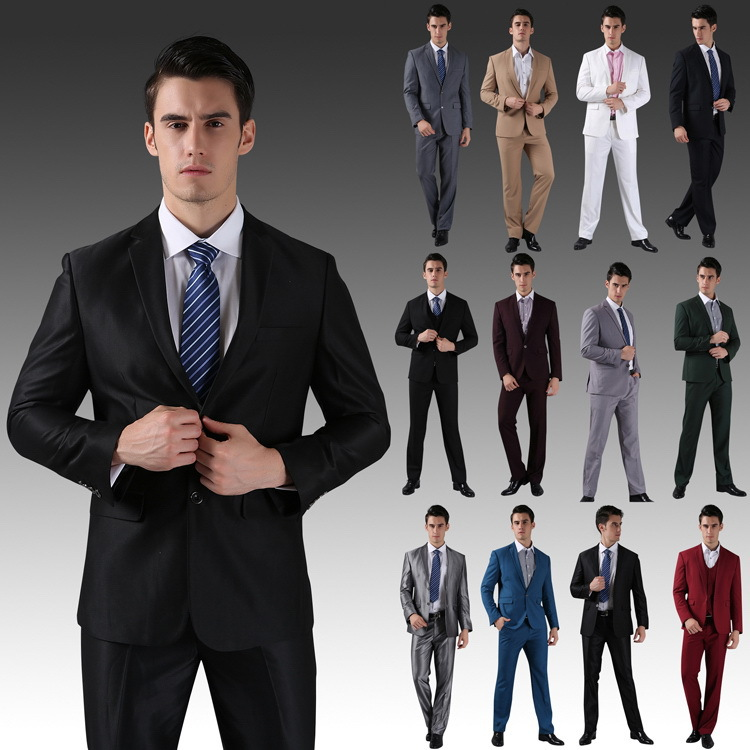 9ae5ab8915ce (Jacket+Vest+Pants+Tie) 2015 New Men Wedding Suits Slim Tuxedo Brand  Fashion Formal Costumes Business Dress Suits Blazer H0285 – MyFashionBuy