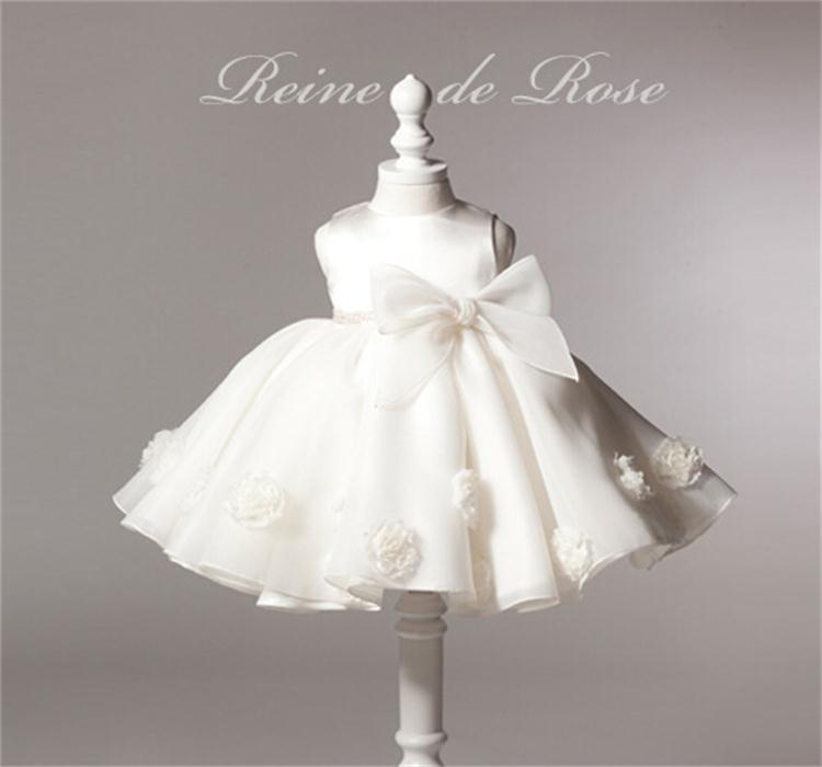 New 2015 Baby Girl Dress Vintage Baby Christening Dresses Rose Big