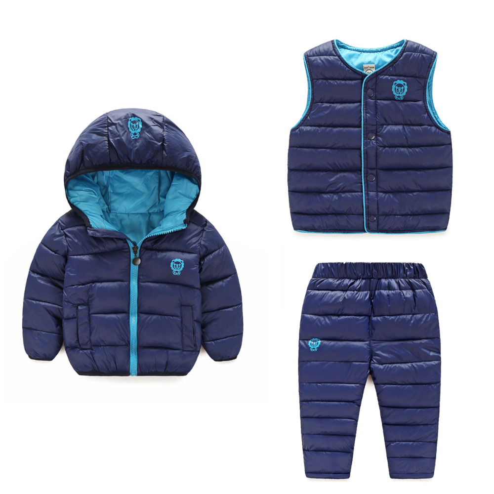 e1def8c3b 3 pieces) Winter Kids Clothing Sets Warm Duck Down Jackets Clothing ...