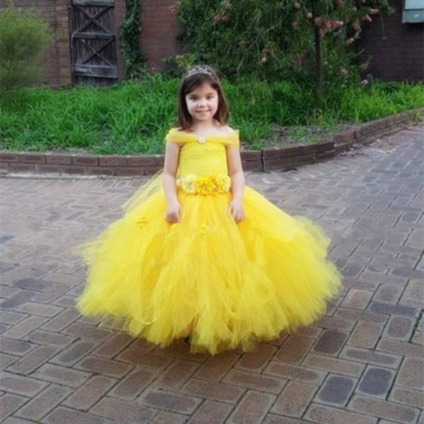 Belle Princess Tutu Dress Baby Kids Fancy Party Christmas Halloween ...