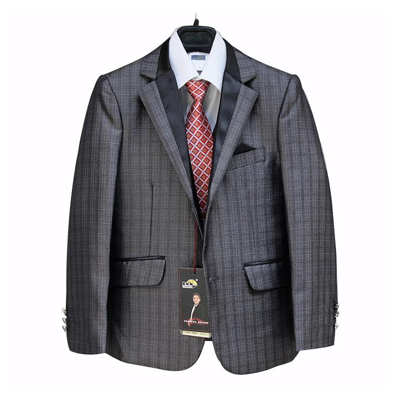 d4512ca85 Boys Grey Suits Kids Clothes 3PCS Tuxedo Terno for Weddings Children ...