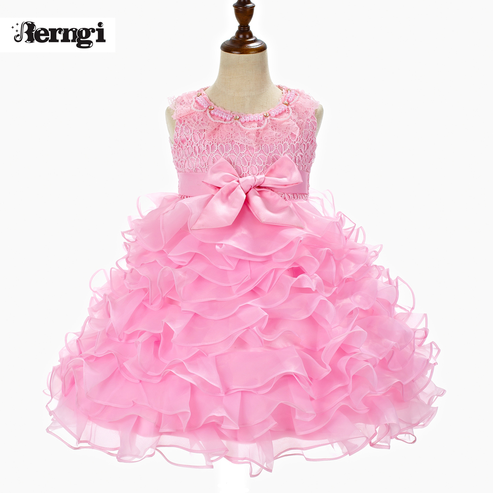 f50d530132fd1 Berngi Girls Princess Dress Party Wear Kids 3-10 Years Sleeveless Clothing  2016 New Bow Lace Tutu Baby Girls Christmas gift
