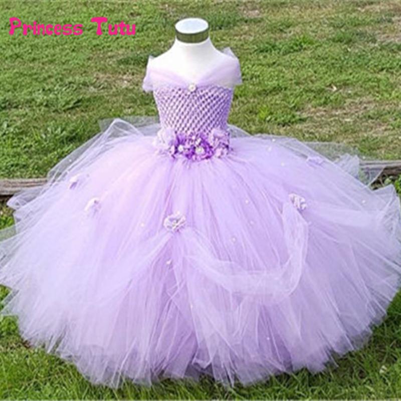 Flower Girls Tutu Dresses Wedding Bridesmaid Party Pageant Princess Kids Dress