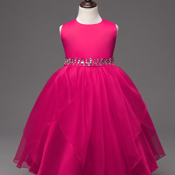 Summer Teenager Kids Christening Events Party Wear Dresses For Girls ...